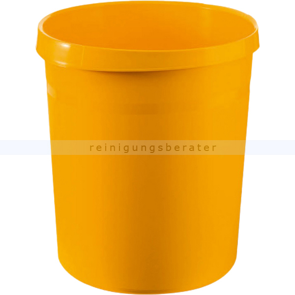Papierkorb HAN aus Kunststoff 18 L gelb GRIP Durchmesser oben 31 cm, unten 24 cm, Höhe 35 cm 1819-15 gelb