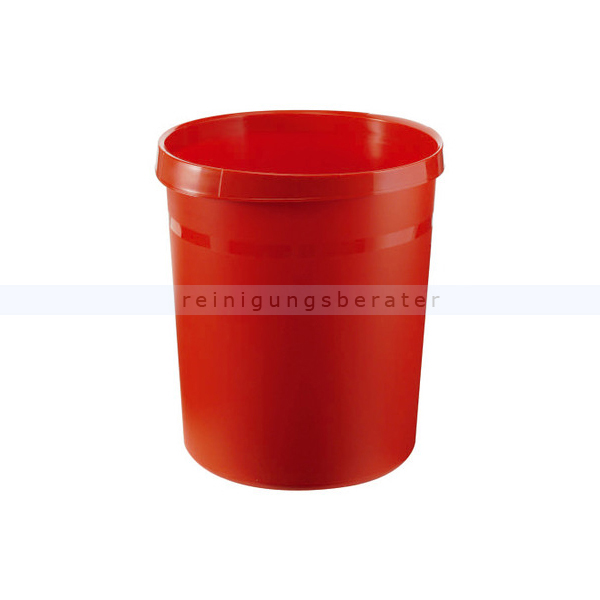 Papierkorb HAN aus Kunststoff 18 L rot GRIP
