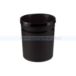 Papierkorb HAN aus Kunststoff 18 L schwarz Grip