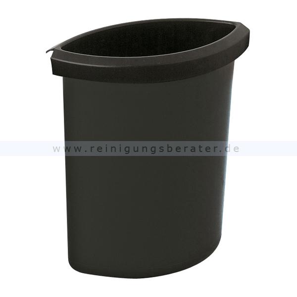 Papierkorb HAN Einsatz 6 L Schwarz Zubehör für runden Papierkorb 73183780