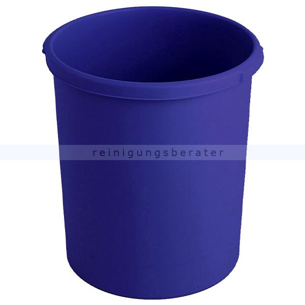 Papierkorb HAN Kunststoff 30 L blau Mülleimer ohne Deckel 73183360