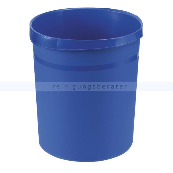 Papierkorb HAN Kunststoff blau 18 L Mülleimer ohne Deckel 18190-14