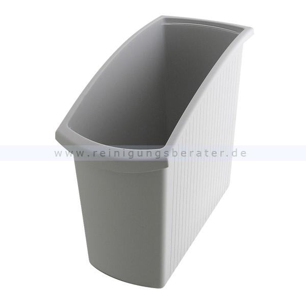 Papierkorb HAN Mondo grau 18 L Mülleimer ohne Deckel 73184008