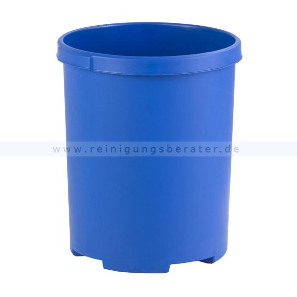 Papierkorb HAN rund 50 L Blau Mülleimer ohne Deckel 1836-14