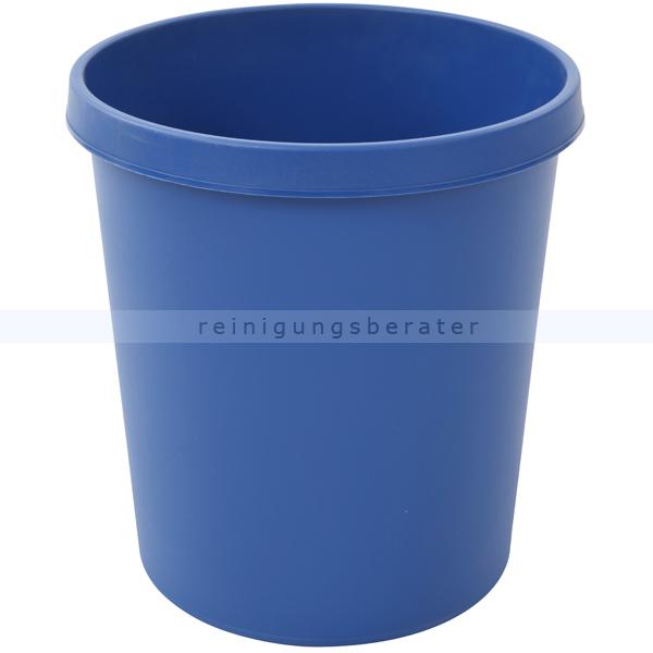 Papierkorb Helit 18 L blau Runder Mülleimer ohne Deckel 86052503