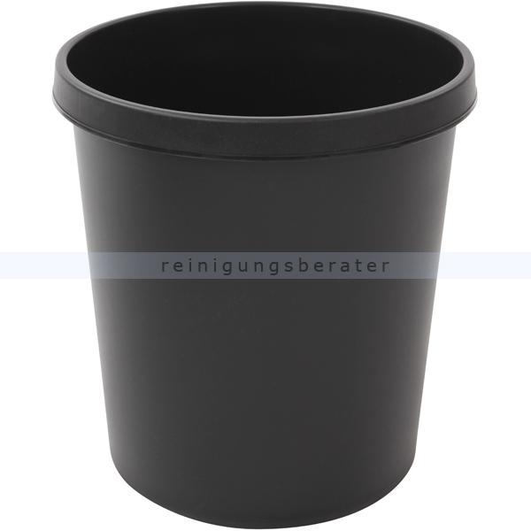 Papierkorb Helit 18 L schwarz Runder Mülleimer ohne Deckel 86052510