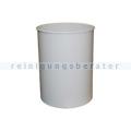 Papierkorb Metall 30 L lichtgrau