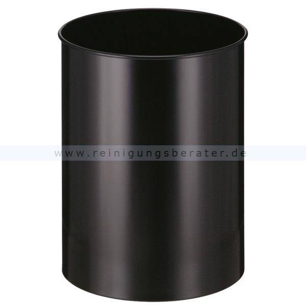 Papierkorb metall 30 l schwarz for Flurgarderobe metall schwarz
