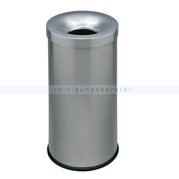 Papierkorb Orgavente COCORITO Silber 50 L feuersicher selbstlöschender Papierkorb 772052