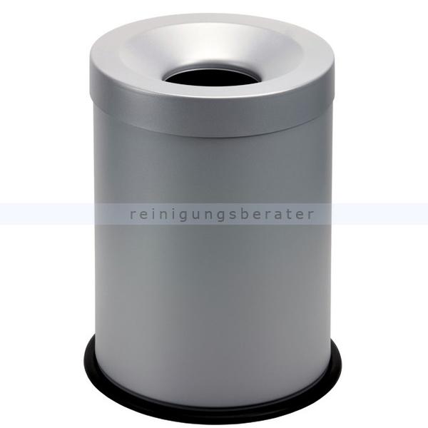 Papierkorb Orgavente Grisu aus Stahl grau 15 L feuersicher selbstlöschender Papierkorb 770002