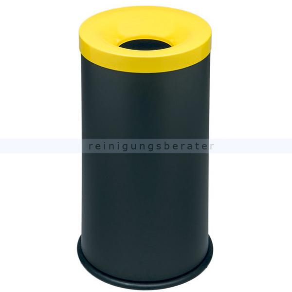 Papierkorb Orgavente Grisu Color 50 L feuersicher selbstlöschender Papierkorb, schwarz-gelb 770016