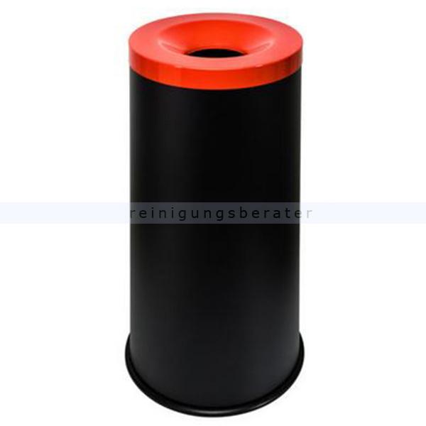 Papierkorb Orgavente Grisu Color 50 L feuersicher selbstlöschender Papierkorb, schwarz-rot 770017