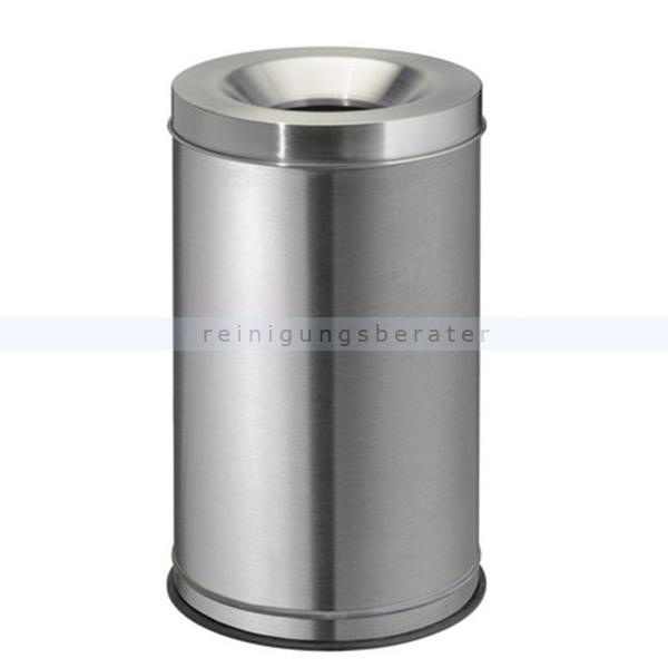 Papierkorb Orgavente Grisu Edelstahl matt 120 L feuersicher selbstlöschender Papierkorb 770040