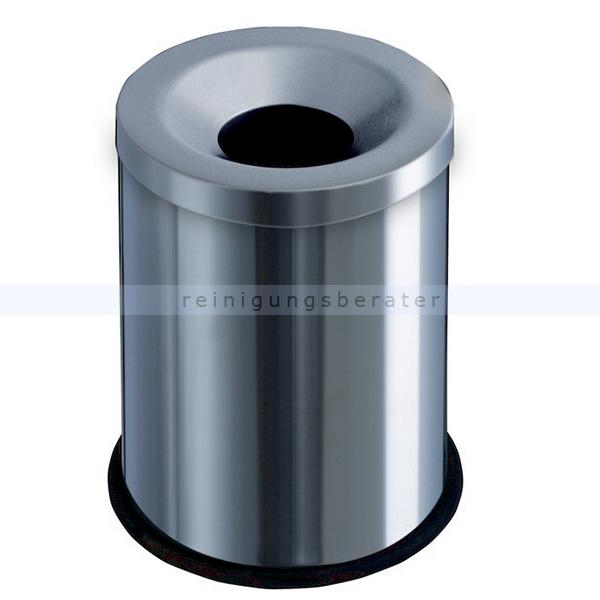 Papierkorb Orgavente Grisu Edelstahl matt 15 L feuersicher selbstlöschender Papierkorb 770000