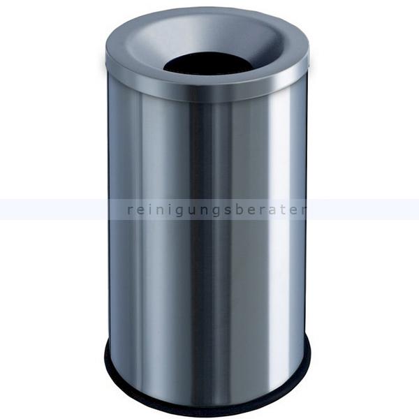 Papierkorb Orgavente Grisu Edelstahl matt 50 L feuersicher selbstlöschender Papierkorb 770010