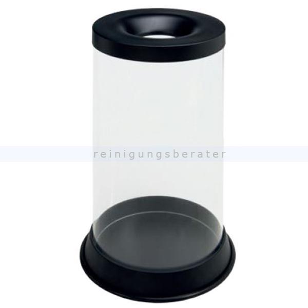 Papierkorb Orgavente GRISU KRIL 80 L transparent feuersicher selbstlöschender Papierkorb 774021