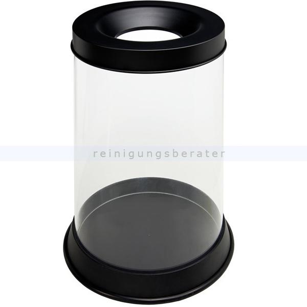 Papierkorb Orgavente GRISU KRIL transparent 110L feuersicher selbstlöschender Papierkorb 774041
