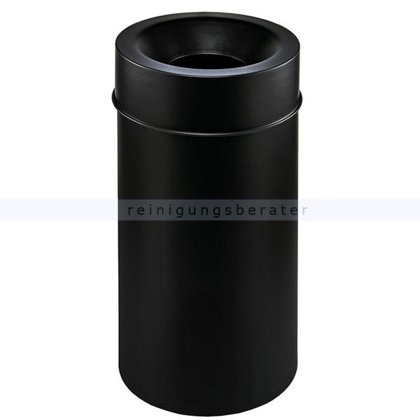 Papierkorb Orgavente Grisu MURALE schwarz 50 L feuersicher selbstlöschender Papierkorb 770211