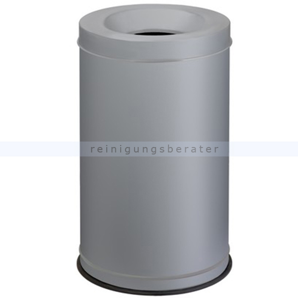 Papierkorb Orgavente Grisu Stahl grau 120 L feuersicher selbstlöschender Papierkorb 770042