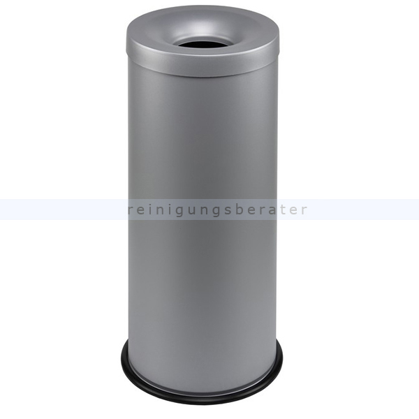 Papierkorb Orgavente Grisu Stahl grau 30 L feuersicher selbstlöschender Papierkorb 770032