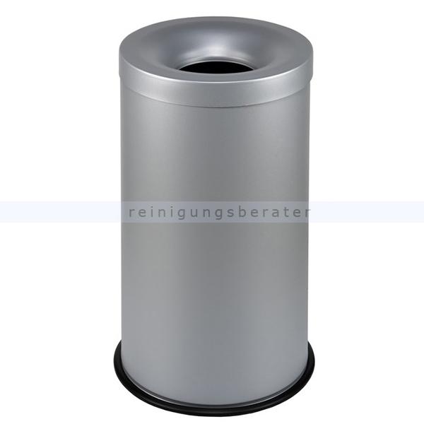 Papierkorb Orgavente Grisu Stahl grau 50 L feuersicher selbstlöschender Papierkorb 770012