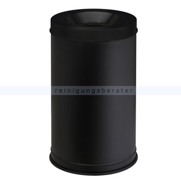 Papierkorb Orgavente Grisu Stahl schwarz 120 L feuersicher selbstlöschender Papierkorb 770041