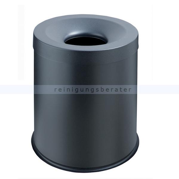 Papierkorb Orgavente Grisu Stahl schwarz 15 L feuersicher selbstlöschender Papierkorb 770001