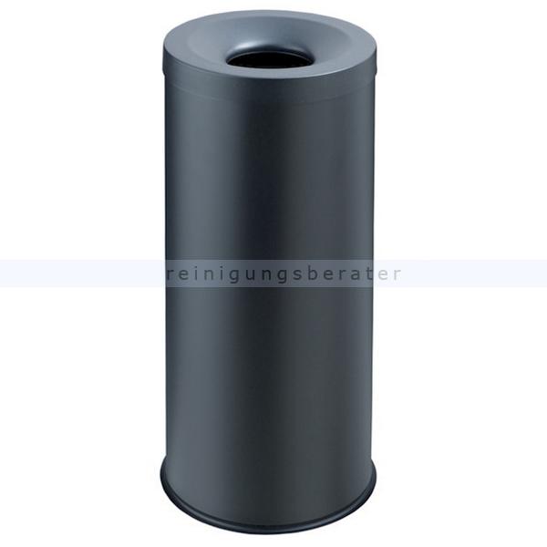 Papierkorb Orgavente Grisu Stahl schwarz 30 L feuersicher selbstlöschender Papierkorb 770031
