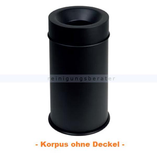 Papierkorb Orgavente GRISU VIP COLOR schwarz 50L feuersicher selbstlöschender Papierkorb 770501