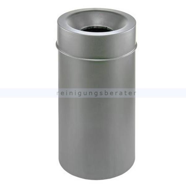 Papierkorb Orgavente MURALE Stahl grau 50 L feuersicher selbstlöschender Papierkorb 770212