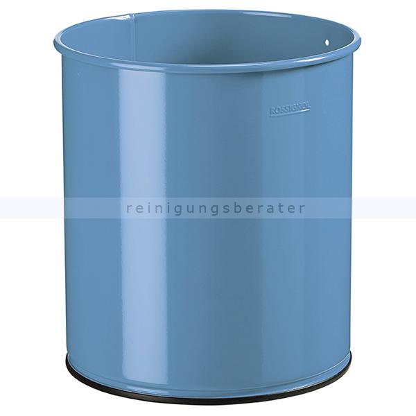 PAPEA Rossignol Papierkorb 15 L pastellblau matt glatt aus Stahl 59757