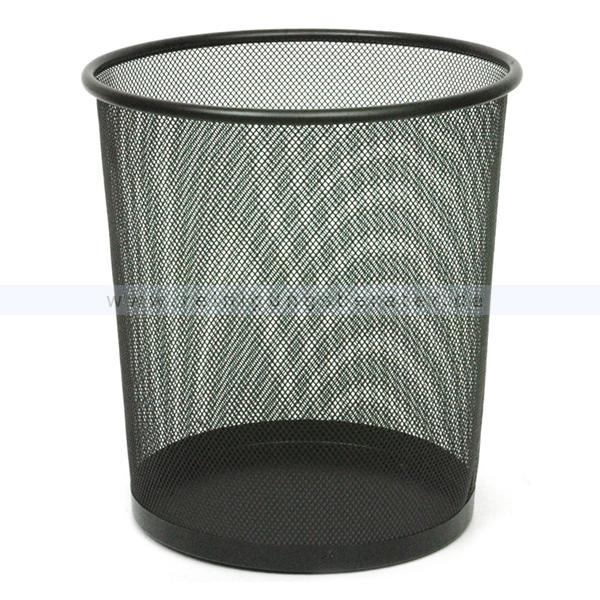 Papierkorb schwarz perforiert 19 L