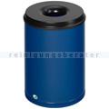 Papierkorb VAR Mülleimer feuersicher Stahlblech 50 L blau