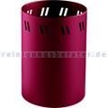 Papierkorb Wesco 19 L rubinrot