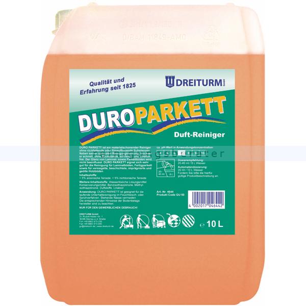 Parkettreiniger Dreiturm Duro Parkett 10 L Duftreiniger für Parkett und Laminat 4644