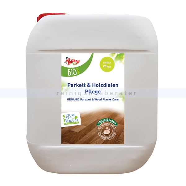 Parkettreiniger Poliboy Bio Parkett Holzdielen Pflege 5 L Ideal für lackierte, lasierte und versiegelte Holzböden 04L0501