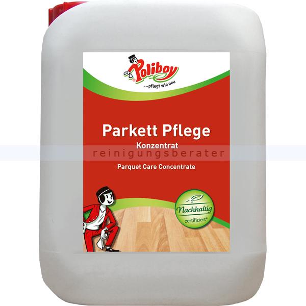 Parkettreiniger Poliboy Parkett Pure Kraft Konzentrat 5 L Mit Nässeschutzformel und natürlichem Avocado- und Sesamöl 68L0501
