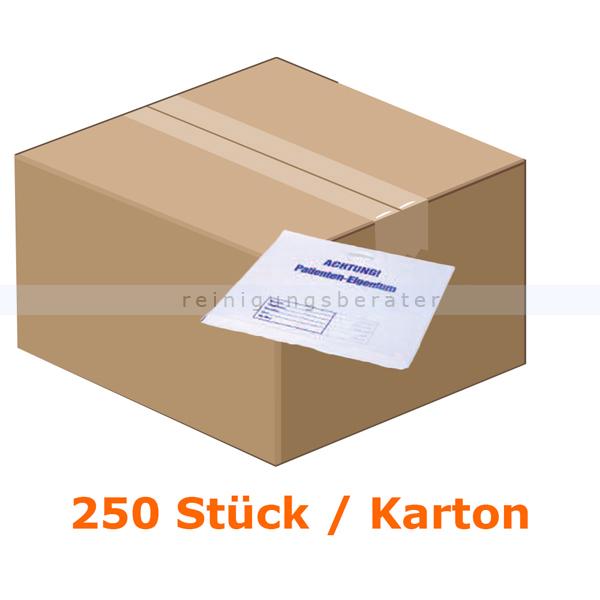 Ampri Patiententasche für Patienteneigentum weiß LDPE Qualität 250 Stück/Karton 08349-250