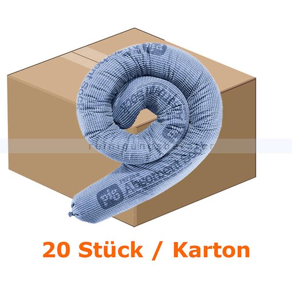 New Pig PIG® BLUE Saugstrumpf - Absorptionsmaterial Strumpf/Schlauch dia 8 cm x 122 cm 2048