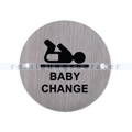 Piktogramm Simex für Baby-Wickelräume Edelstahl
