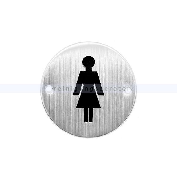 piktogramm simex f r frauen toiletten edelstahl. Black Bedroom Furniture Sets. Home Design Ideas