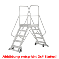 Podestleiter Hymer Podesttreppe 2x6 Stufen