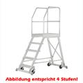 Podestleiter Hymer Podesttreppe einseitig begehbar 5 Stufen