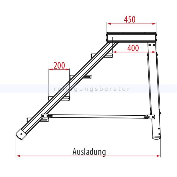 podestleiter hymer treppenpodest 5 stufen 800 mm. Black Bedroom Furniture Sets. Home Design Ideas