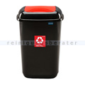 Push-Deckeleimer Quatro 12 L, rot mit Aufdruck Metall