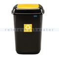 Push-Deckeleimer Quatro 28 L, gelb mit Aufdruck Kunststoff