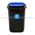 Push-Deckeleimer Quatro 45 L, blau mit Aufdruck Papier
