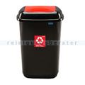 Push-Deckeleimer Quatro 45 L, rot mit Aufdruck Metall