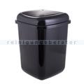 Push-Deckeleimer Quatro aus Kunststoff 12 L, schwarz