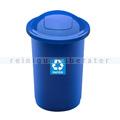 Push-Deckeleimer Top 50 L, blau mit Aufdruck Papier